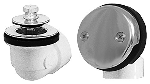 Oatey P9225BBG Dearborn Brass Uni-Lift Stopper with Zinc Drain and 2-hole Faceplate, - Schedule 40 Lift Hole