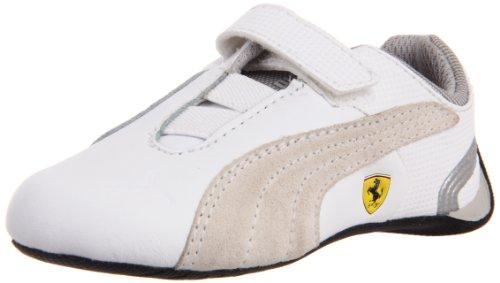 Puma Future Cat M2 SF NM V Kids Sneaker (Toddler/Little Kid/Big Kid),White/White/Puma Silver,3.5 M US Big Kid (Casual Future Puma Cat)