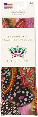 - Celeste Stein Therapeutic Compression Socks, Multi Gogo, 8-15 mmhg, .6 Ounce