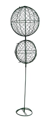 Double Ball 36 inches high - 10 inches diameter 8 inches diameter Indoor Outdoor Hand Wired Animal Topiary Frame Structure