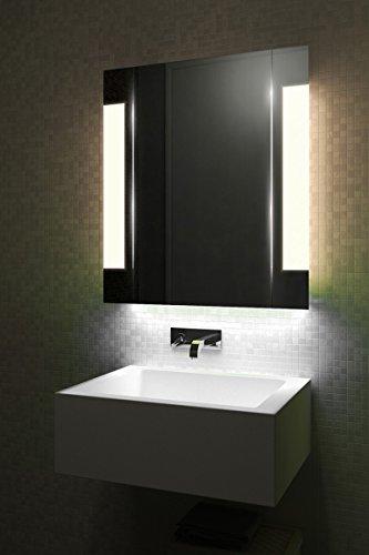 DIAMOND X COLLECTION Ambient Demist Bathroom Cabinet with Sensor & Internal Shaver Socket ()