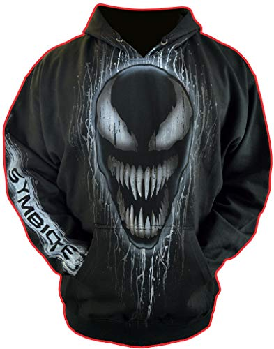 (Sid Vicious Airbrushed Gamer Gifts Hoodie Inspired by Venom add Custom Name Adult Medium)