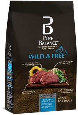 Pure Balance Wild Free Bison, Pea Venison Recipe Food for Dogs 24lbs