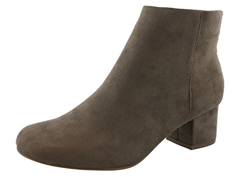 MayDay Round City Taupe Heel Classified Bootie Ankle Women's Low Toe Smoke EqTtTp