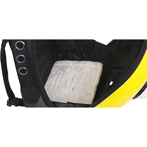 Astronaut Capsule Pet Backpack Airline Approved Transparent Respirant Venthole Chien Cat Carrier Portable Sac à Main Voyage En Plein Air Walking Walking Suitcase 4 Couleur , yellow