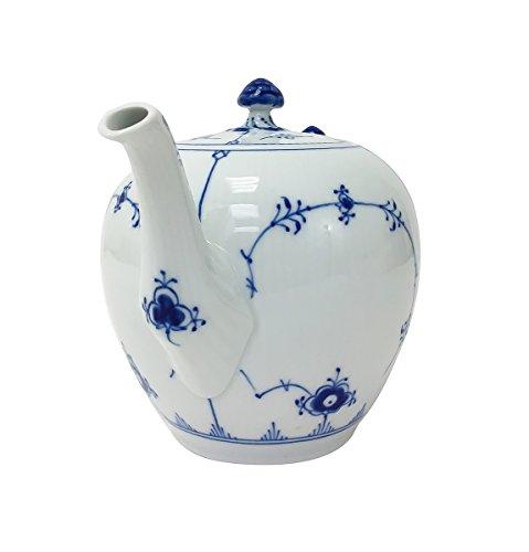 Royal Copenhagen Fluted Plain Tea Pot, Blue by Royal Copenhagen (Image #1)
