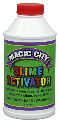 Magic City Slime Activator - Non Toxic, Just Add to Your Favorite Glue for Great Slime Every Time, Made in USA (12 Ounces) -