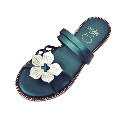 Zolimx Damen Sommer Flip Flops Frauen Schuhe Sandalen Slipper  Gr篓鹿n