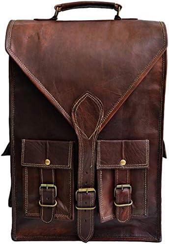 Jaald convertible leather 15.6 laptop bag backpack messenger bag office briefcase