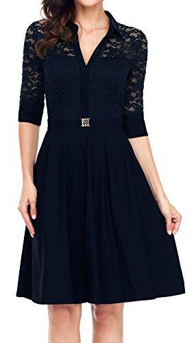 3/4 sleeve a line wedding dress - 7