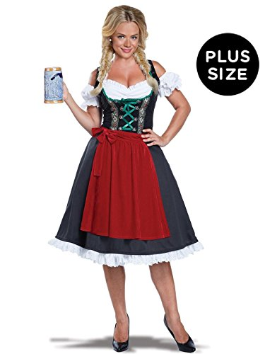 California Costumes Women's Oktoberfest Fraulein Plus Size Costume, Black/Red 1X -