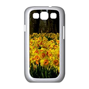 Sea of Yellow Daffodils Samsung Galaxy S3 Cases, Samsung Galaxy S 3 Case Protector Cute Okaycosama - White