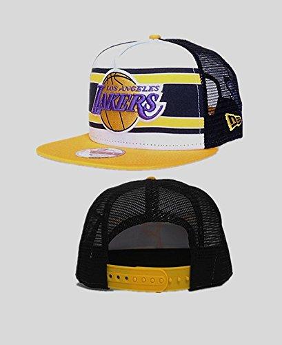 [Los Angeles Lakers NBA Basic Men's Fashion Adjustable Hat] (70s Era Clothing)