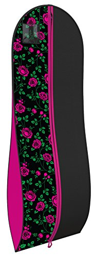 """Your Bags Women's Gown Garment Bag - Wedding Prom Dresses - 72""""x24"""", 10"""" Gusset"""