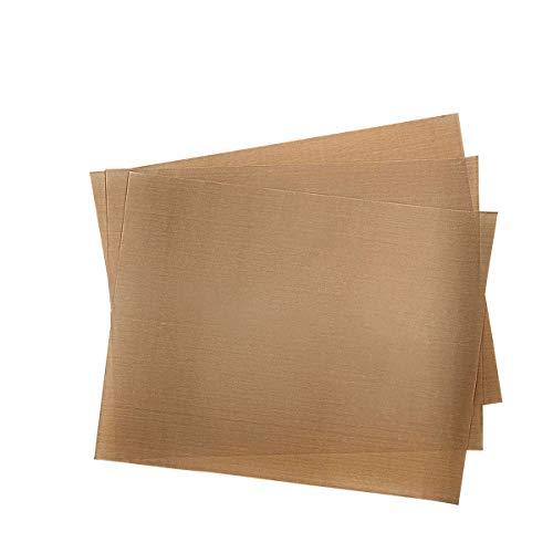 Adecco LLC Teflon Sheet for Heat Press, Nonstick Oven Liners, Heat Resistant Craft Mat Transfer Sheet 3 Pack(16 x 12 Inch)