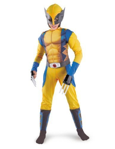 Classic X-Men Wolverine Muscle Child Costume - MEDIUM (7/8) by Marvel's Wolverine Origins (Wolverine Muscle Costume)