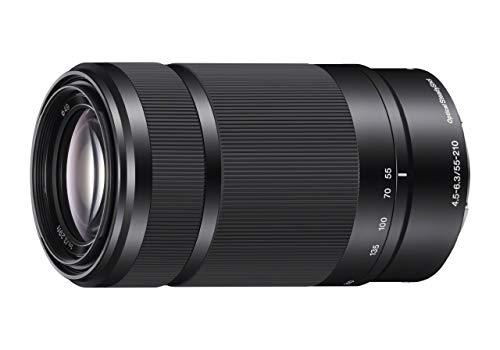 SONY E 55-210mm F4.5-6.3 Lens for SONY E-Mount Cameras (Black) (Renewed)