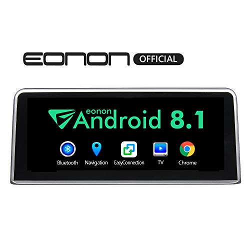 Single Din Car Stereo, Eonon 10.25 Inch HD Touchscreen Car Radio, Compatible with iDrive System Support Android Auto Apple Carplay Bluetooth WiFi Fast Boot Backup Camera OBDII- GA9203NB