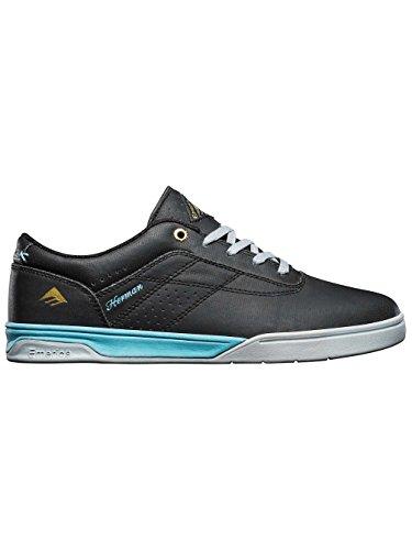 Emerica Mens Herman G6 Skateboard Skor Svart / Grå