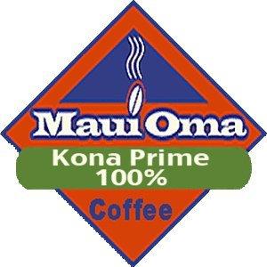 Hawaiian Value Pack Maui Oma Coffee 5 Bags 1 lb. each Ground 100 % Kona Prime by Maui Oma Coffee