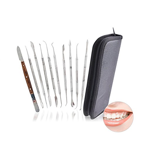 Carejoy Dental Lab Equipment Dental Kit Wax Carving Tool Set