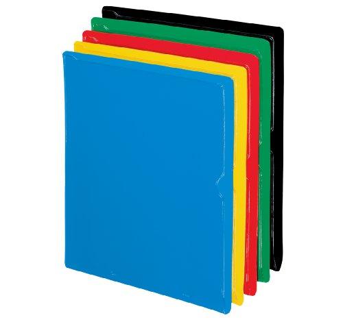 Pendaflex CopyGuard Heavy-Gauge Organizers, Letter, Vinyl, BLK/BL/GR/Red/YW, 25/Box (62001EE)