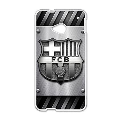 Amazon.com: Happy FC Barcelona Phone Case for HTC One M7 by ...