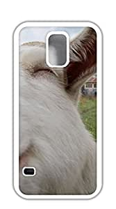 TUTU158600 Design Phone Protective Cover case for samsung galaxy s5 for girls - closeup goat