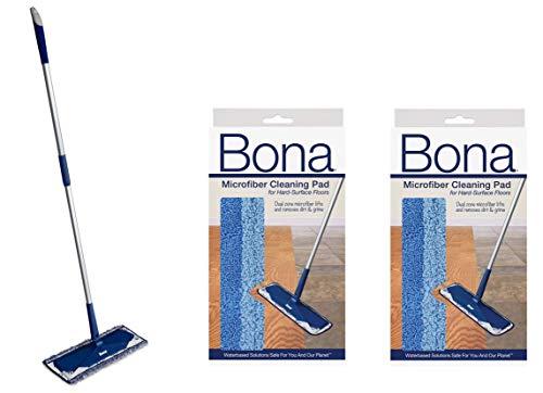 Bona Microfiber Floor Mop + Bona Microfiber Cleaning Pad 2 (Bona Floor Mop)