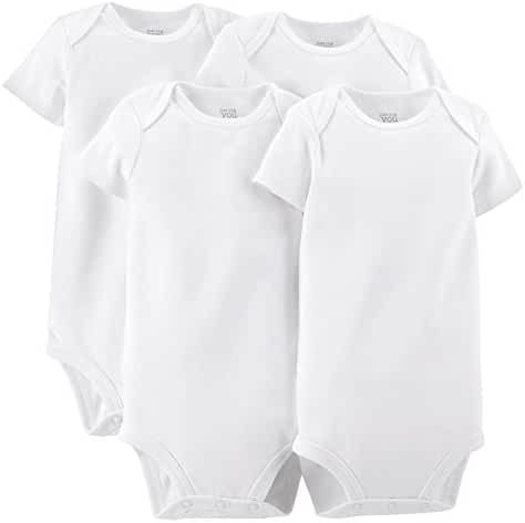 Just One You by Carter's Unisex Baby 4 Pack Short-sleeve Bodysuit - White