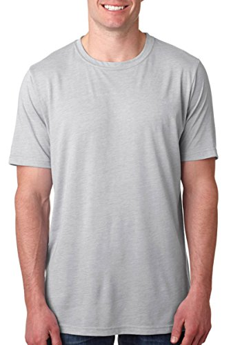 Next Level Apparel 6200 Mens Poly & Cotton Crew Tee – Silver44; Extra Large