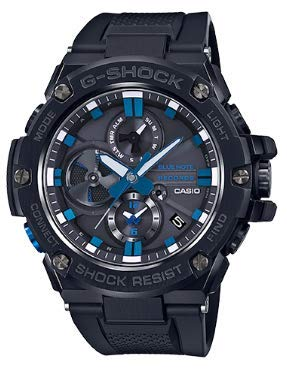 - Men's Casio G-Shock G-Steel Limited Edition Blue Note Records Bluetooth Watch GSTB100BNR-1A