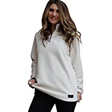Lucky Love Women's Fleece Pullover Jacket, Half Zip Relaxed Fit, Women's & Plus Size