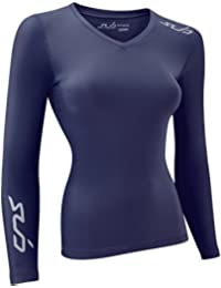 Womens Compression Long Sleeve Top Vest Thermal Base Layer Winter