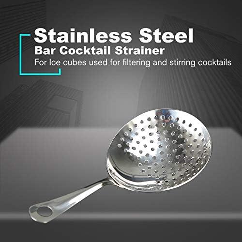 Cocktail Strainer 304 Stainless Steel Julep Strainer Bartender Cocktail Shaker Wine Ice Strainer Bar Percolator Mixed Barware anyilon
