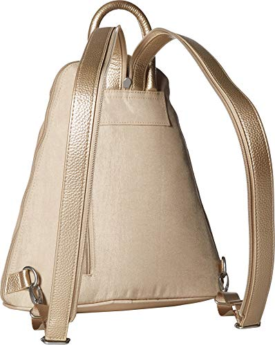 Baggallini Women's Metro Backpack with RFID Phone Wristlet Champagne Shimmer One Size by Baggallini (Image #1)