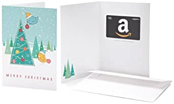 Amazon.ca $50 Gift Card in a Greeting Card (Christmas Tree Design)