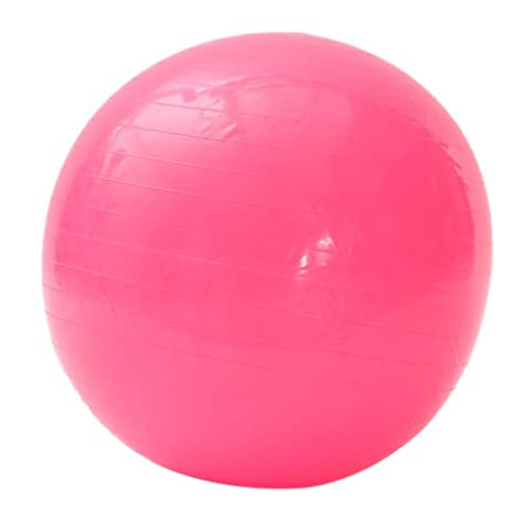 PVC Thickening Explosion Proof Fitness Yoga Exercise Ball (pink, 65cm) (Neon Pink Track Spikes)