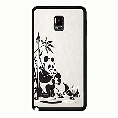 Drawing Painting Panda Bear Phone Case Cover for Samsung
