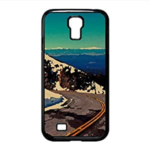 Winter Mountain Road Watercolor style Cover Samsung Galaxy S4 I9500 Case (Landscape Watercolor style Cover Samsung Galaxy S4 I9500 Case)