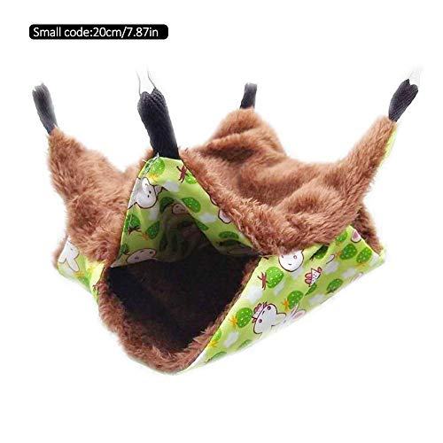 Sanmubo Soft Dog Cat Pet Bed House Hammock Cage Small Pet Hammock Hanging Squirrel Sleeping Bag Warm Double Layer Mezzanine Hammock Classic Luxury Bunkbed Hammock Fit for Small Pet