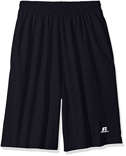 Russell Athletic Athletic Jersey - Russell Athletic Men's Big and Tall Cotton Jersey Short with Pockets, Navy, 2X