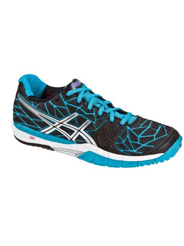 silver Asics black Fireblast blue Shoes Multisport Women's Indoor Gel BrxrFWqTY8