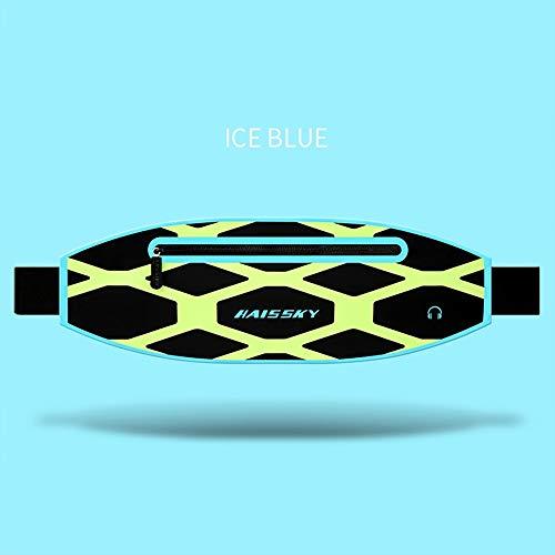 (PURROMM Running Water Resistant Waist Bag, Close-Fitting Light Waist Pack for Football Badminton Mountaineering Basketball Tennis Table Tennis Yoga,Green)