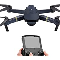 RC Quadcopter Drone 2.4G 4CH 6-Axis Gyro 720P WIFI FPV Foldable Arm Selfie Drone Quadcopter High Pressure Hold Mode (Black)