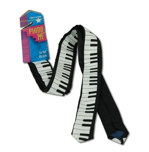 80s Adults Piano Print Tie (80s Characters)