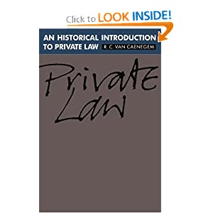 An Historical Introduction to Private Law R. C. van Caenegem and D. E. L. Johnston