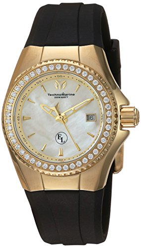Technomarine Women's 'Eva Longoria' Swiss Quartz Stainless Steel and Silicone Casual Watch