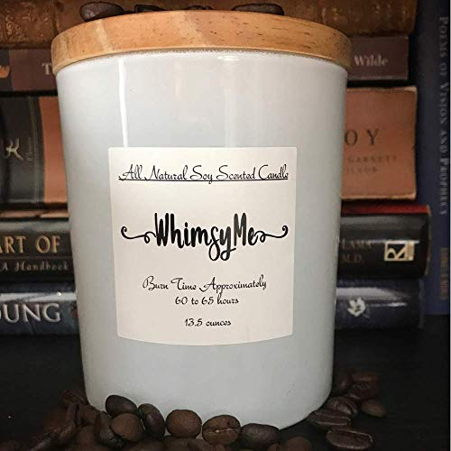 Coffee Candle, White Matte Jar with Lid, Hazelnut Coffee Caramel Soy Scented Candle, Aromatherapy Candle, Spa Candle, Housewarming Gift, Gift for Him, Kitchen Décor, Housewarming, Gift -