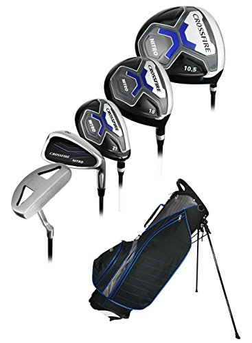 Nitro Golf- Crossfire 17 Piece Complete Set with Bag Graphite/Steel Uniflex